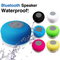Portable Subwoofer Waterproof Shower Wireless Bluetooth Speaker Car Handsfree Receive Call Music Suction Phone Mic For iPhone etc gift