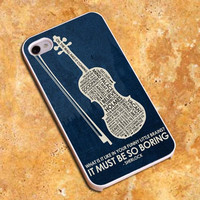 Sherlock Holmes It Must Be So Boring Design For iPhone4/4s Case, iPhone 5/5s/5c Case, Samsung S3/S4 Case