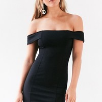 Silence   Noise Structured Off-The-Shoulder Bodycon Mini Dress