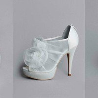 "Vera Wang ""White"" Collection; Organza Heels - David's Bridal"