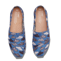 BLUE CANVAS CLOUD PRINT WOMEN'S CLASSICS