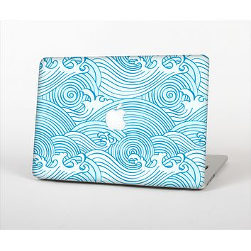 The Seamless Blue Waves Skin Set for the Apple MacBook Air 11""