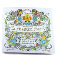 Children Adult Enchanted Forest English Version Drawing Coloring Book