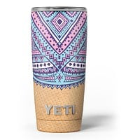Ethnic Tribe Pattern V2 - Skin Decal Vinyl Wrap Kit compatible with the Yeti Rambler Cooler Tumbler Cups