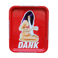 DANK GIRL - Extra Large Troublemakers Dab Wizard Exclusive Rolling Tray for Smoke Suppies - 9x10 inches Large