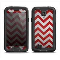 The Red Vintage Chevron Pattern Samsung Galaxy S4 LifeProof Fre Case Skin Set
