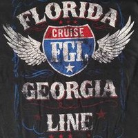 """New! Florida Georgia Line """"Cruise"""" Country Rock FGL Licensed Concert T-Shirt"""