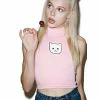 PUSSY POWER CROPPED TURTLENECK