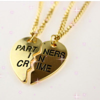 Partners In Crime 2 Pcs Necklace Set - Gold or Silver