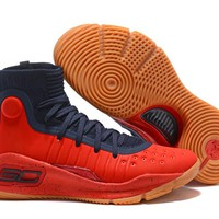 Under Armour UA Curry 4 Navy/Red Basketball Shoe