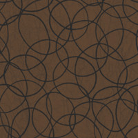Tangled Rings Wallpaper in Chocolate and Metallic design by Studio 465