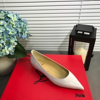 Fashion Christian Louboutin Cl Kate Flats White Reference #2108