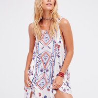 Free People Annka Boarder Slip Dress | Ivory Combo