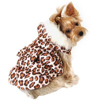 Walmart: Simply Dog Leopard Print Dog Hoodie Jacket, Brown, (Multiple Sizes Available)
