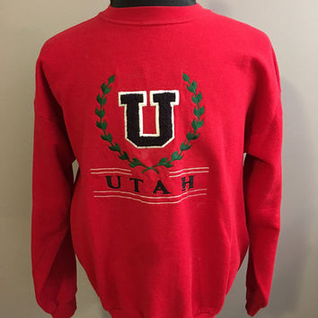 University of Utah Crewneck Sweatshirt, Size: X-Large
