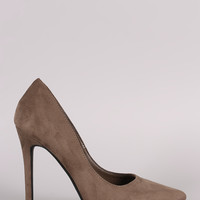 Suede Classic Pointy Toe Stiletto Pump Heel 3 Colors