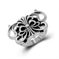 Jewelry Stylish Gift Shiny New Arrival Animal Vintage Butterfly Titanium Korean Accessory Ring [6544846531]