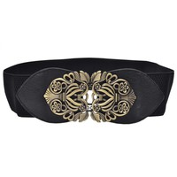 Flower Leather Girdle Belt