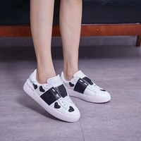 "Valentino  Women Fashion ""Monogram Empriente"" Casual Sneaker sport running Shoes top quality  size 36-40 white"