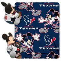 Houston Texans NFL Mickey Mouse with Throw Combo