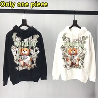 Moschino New Fashion Banknote Bear Print Loose Casual Sweatshirt