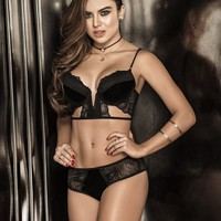 Alluring Lace Bra and Panty Set