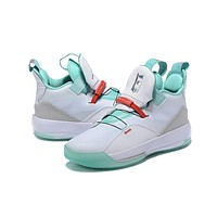 Air Jordan 33 XXXIII AJ33 Sneaker - White/Mint Green