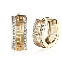 14K Gold Plated Swarovski Micro-Lining Greek