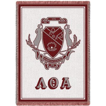 LAMBDA THETA ALPHA WOVEN AFGHAN THROW