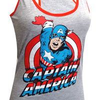 Marvel Comics Captain America Racer Back Tank Top