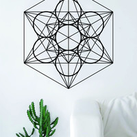 Megatrons Cube Wall Decal Sticker Bedroom Living Room Art Vinyl Beautiful Sacred Geometry Geometric Buddha Namaste Yoga