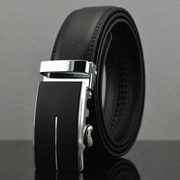 Automatic Leather Buckle Belt