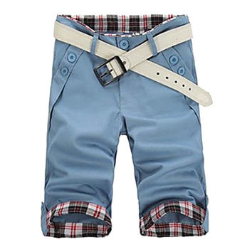 Men's Summer Slim Casual Cropped Pants(Belt Not Included)