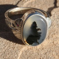 Montana Moss Agate Ring  Fall Leaves in by MontanaAgateJewelry