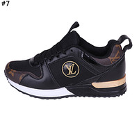 LV tide brand men and women models wild mesh breathable sneakers #7