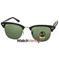 Ray-ban Clubmaster Ebony Arista Sunglasses Rb3016w0365-51 In Black