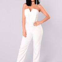 Miss Moody Jumpsuit - White