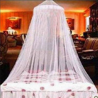 1pc Mosquito Net Elegant Round Lace Insect Bed Valance Canopy Netting Curtain Palace Dome Lace