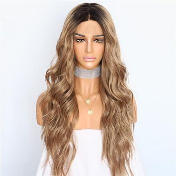Blissful Fairytale-  Ombre Natural Wave Heat Resistant Synthetic Lace Front Wig