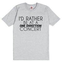 I'd Rather Be At A One Direction Concert-Unisex Dark Ash T-Shirt