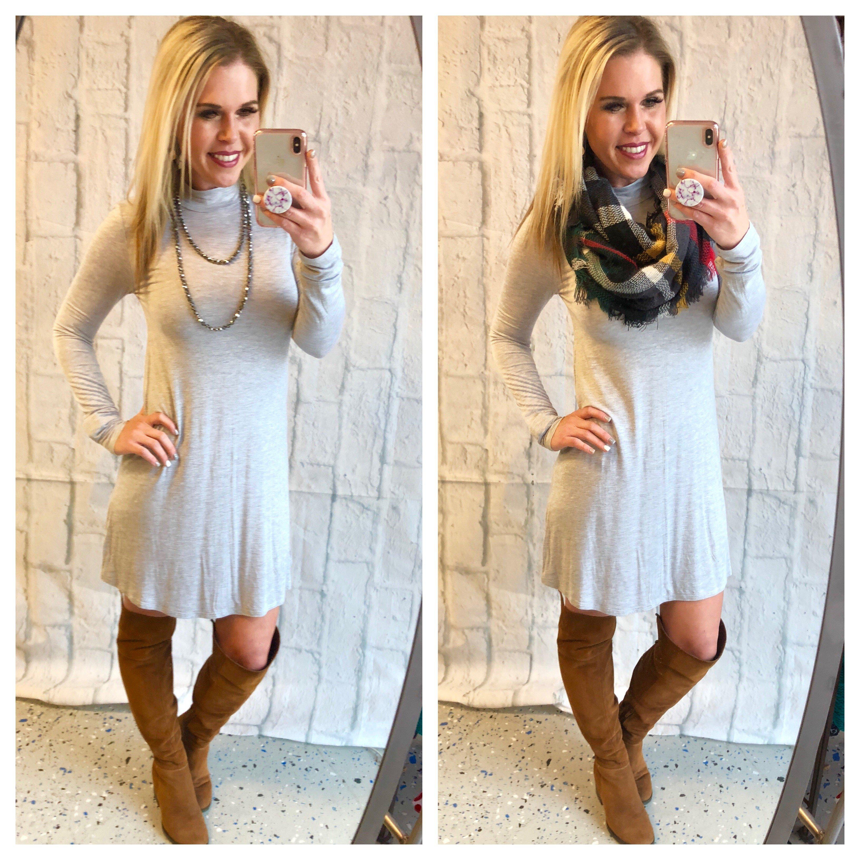Image of More than You Know Dress: Grey