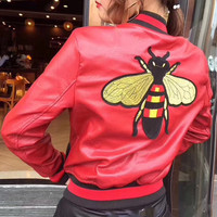 Gucci Bee embroidered jacket