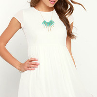 Wholehearted Ivory Babydoll Dress