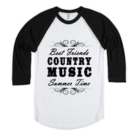 Best Friends, Music, Summer Baseball Tee-JH