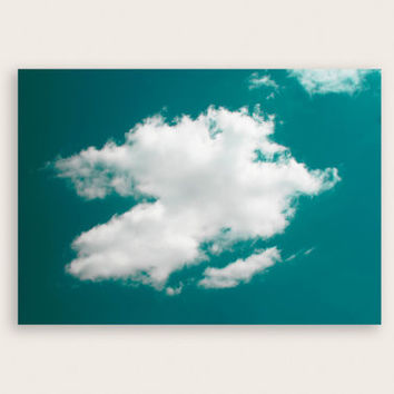 Blue Sky and White Cloud Photography, Nature Photography, Wall Art, Nursery Wall Art, Boys and Girls Bedroom Wall Art.