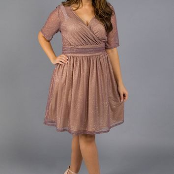 Shimmer Blush Cocktail Dress