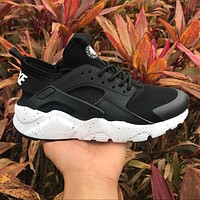 Nike Air Huarache 4 Rainbow Ultra Breathe Men Women Hurache Black/White Running Sport Casual Shoes Sneakers - 116