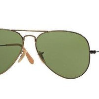 Cheap NEW AUTHENTIC RAY BAN RB3025 177 Aviator Gold Frame Green Classic 58mm Lens outlet