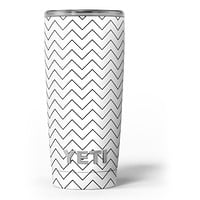 Thin Slate Black Zig Zags - Skin Decal Vinyl Wrap Kit compatible with the Yeti Rambler Cooler Tumbler Cups