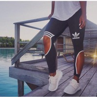 """Adidas""Female Sweatpants Leisure Leggings"